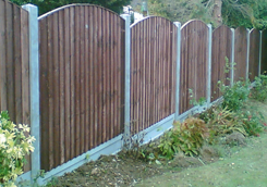 Bowed Fencing Panels